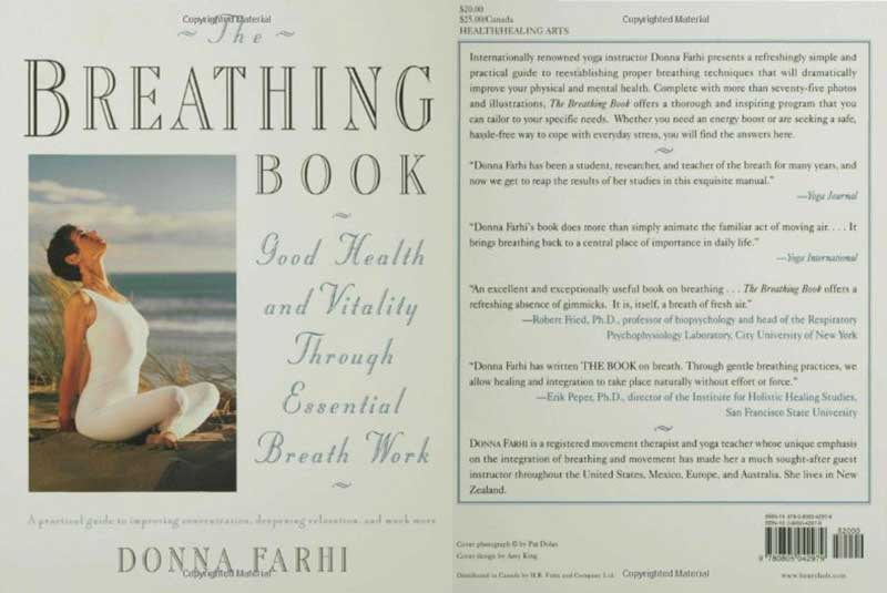 The Breathing, Book, Vitality, Health, Essential, Breath, Work, Donna Farhi