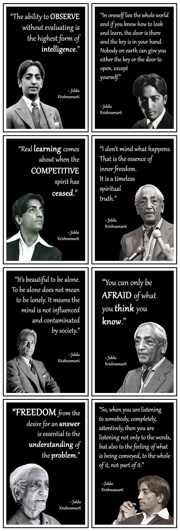 Jiddu, Krishnamurti, Best, Quote, Philosophy, quotes