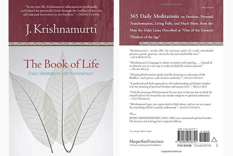 Jiddu Krishnamurti, Book, Life, Meditation