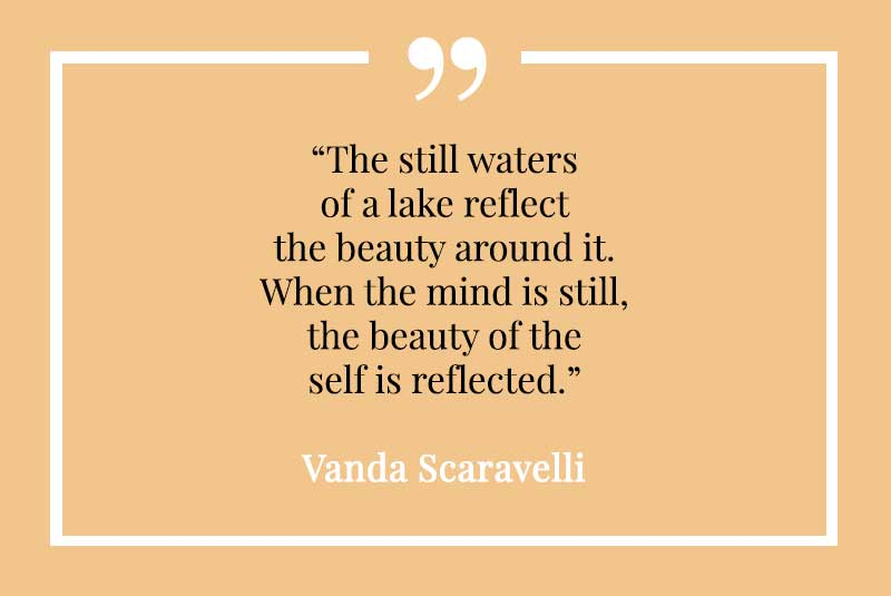Vanda Scaravelli, Yoga, Quote, waters, reflect, beauty, mind