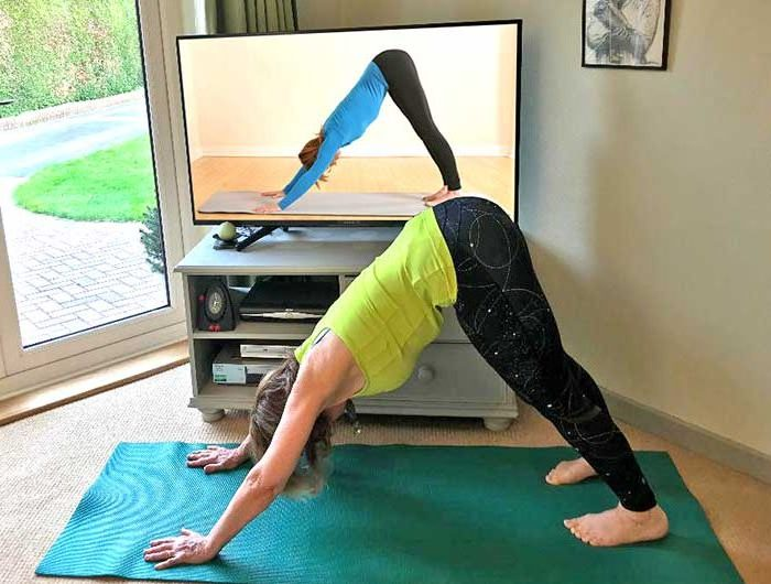 Online, Yoga, Class, Zoom, live, Scaravelli, London, UK, Catherine Annis