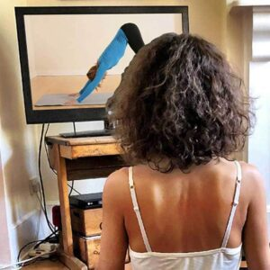 Scaravelli Inspired Yoga Teacher, home classes, zoom, facebook, live, Catherine Annis