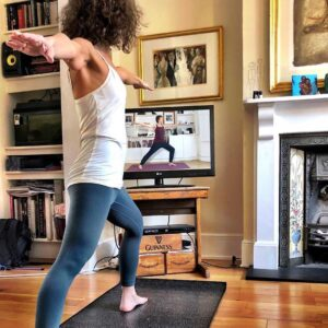 Scaravelli Inspired, Yoga class, home, live stream, zoom, Catherine Annis
