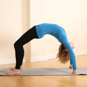 Scaravelli Yoga Classes, Zoom video, online, laptop, Catherine Annis, home
