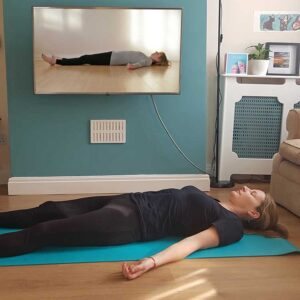 Zoom video, Scaravelli Inspired Yoga, Catherine Annis, home, classes