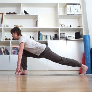Zoom yoga class, Scaravelli Inspired Yoga, Catherine Annis, Facebook, home