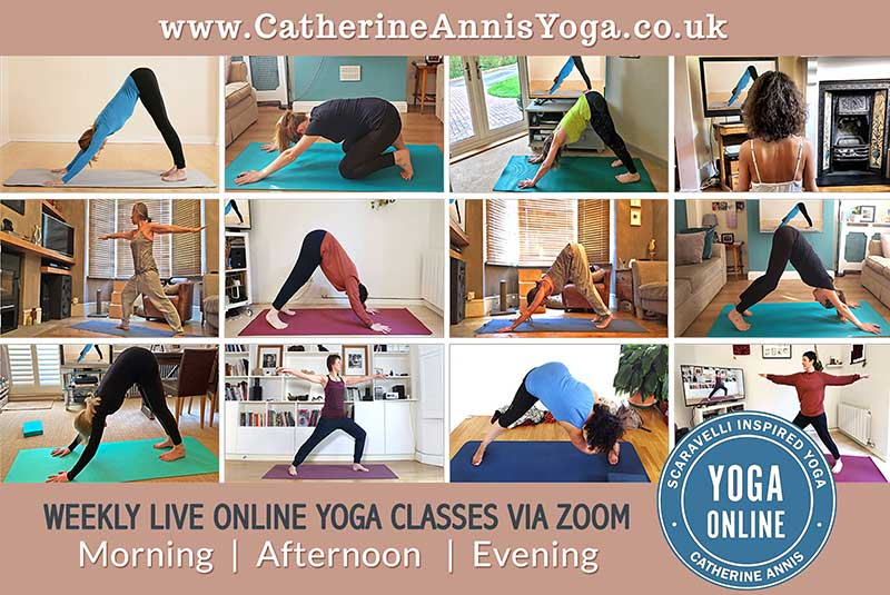 Online Scaravelli Inspired Yoga, Weekly Classes, zoom, Catherine Annis