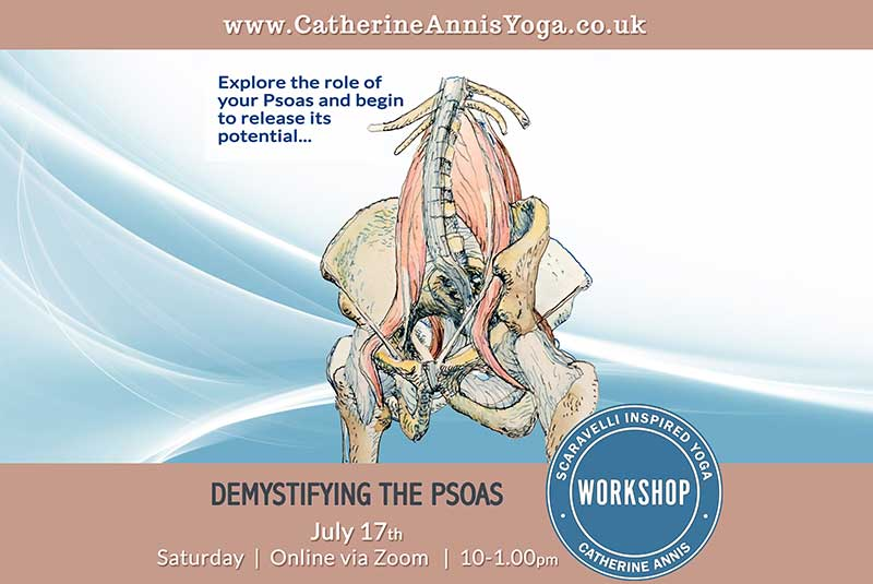 BWY Workshop, Online, Scaravelli Inspired Yoga, Psoas, Anatomy, 2021, 2022